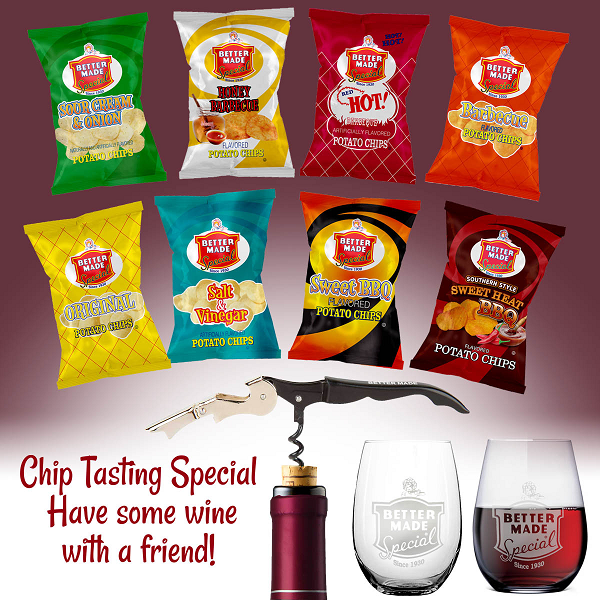 Chip Tasting Special - Have some wine with a friend!